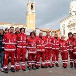 i Volontari Cri in piazza a Rovigo