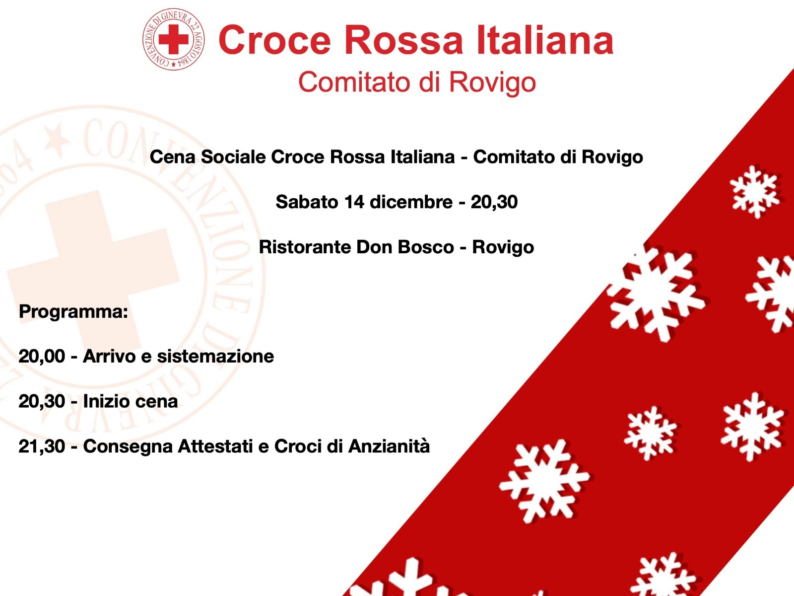 2019 - Cena sociale Croce Rossa Italiana